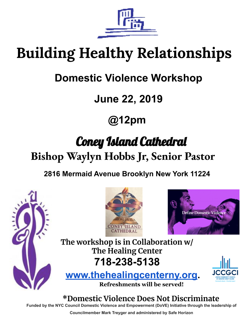 Building healthy relationships flyer