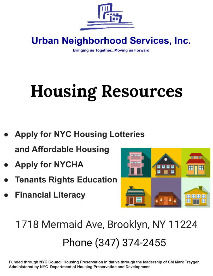 Housing Resources poster